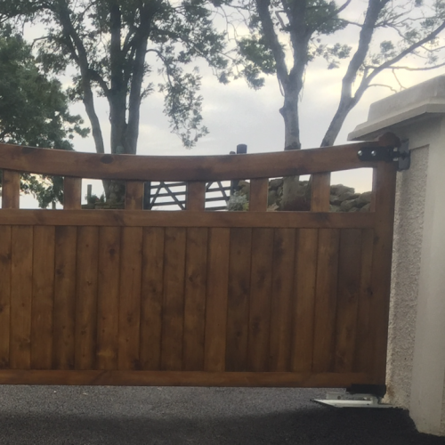 Rustic Wooden Automated Gates