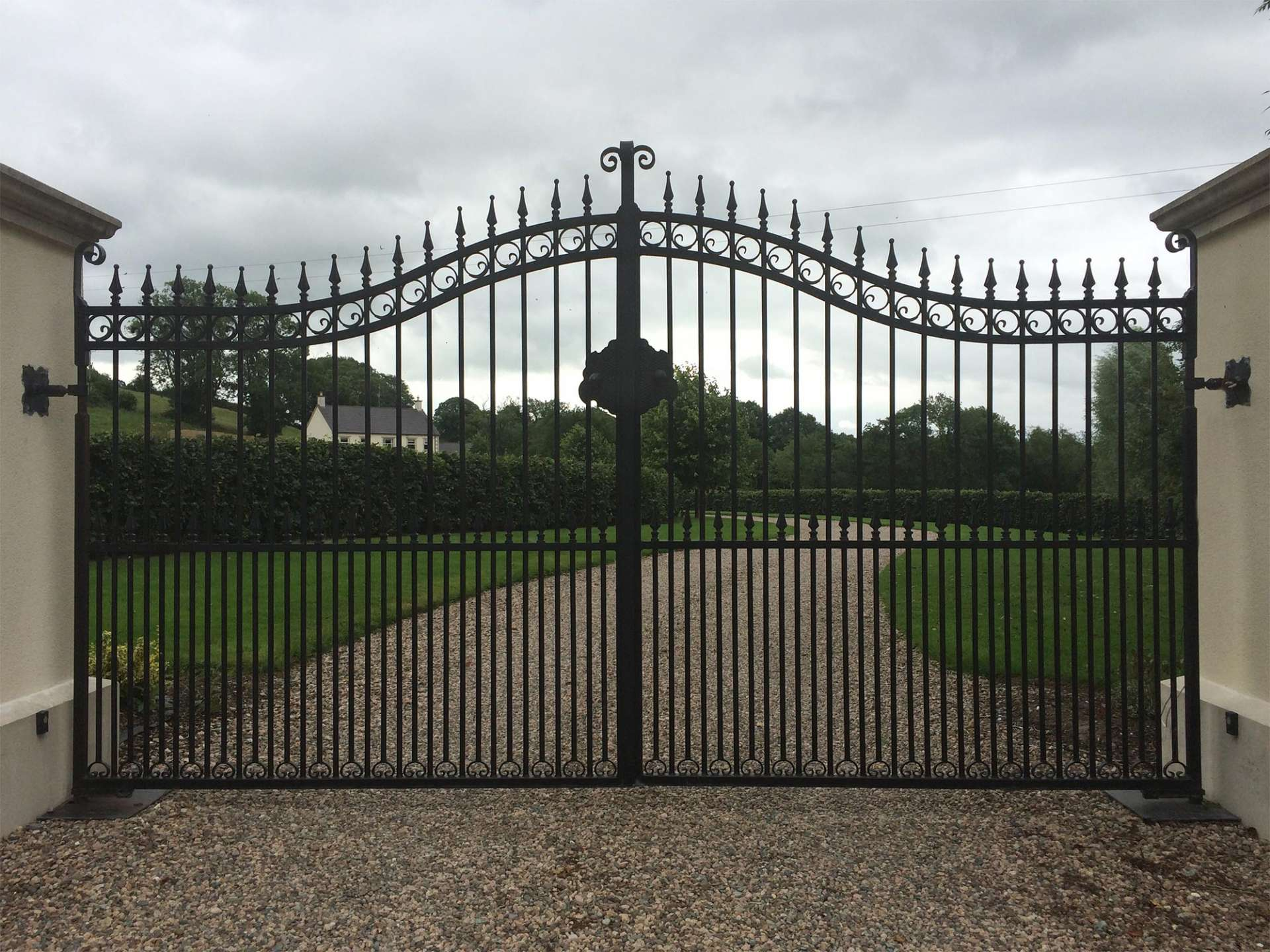 Bespoke Iron Garden Railings Northern Ireland